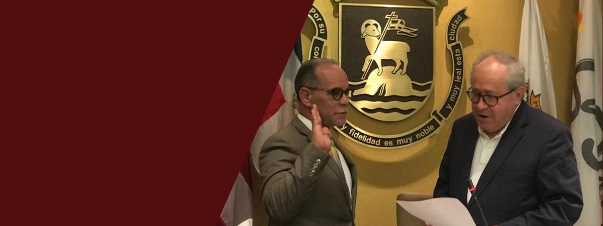 José Enrique Rosario Cruz juramenta como vicepresidente de la Legislatura Municipal